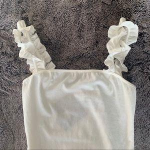 NWT rufffle bodysuit size small